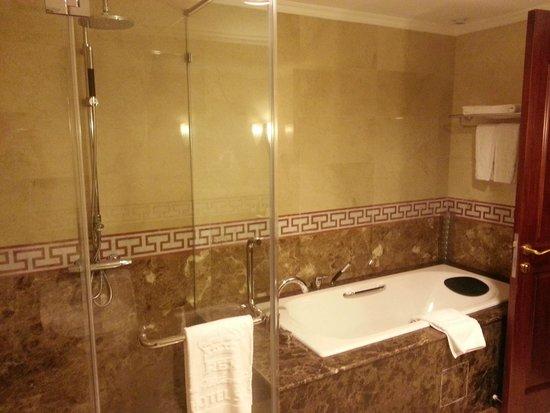Rex Hotel: Shower and bath