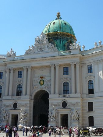 Hofburg: The entrance to the palace