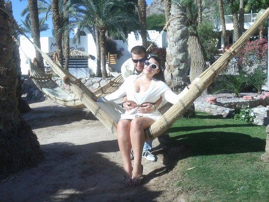 Taba Hotel and Nelson Village : в гамаке на пляже
