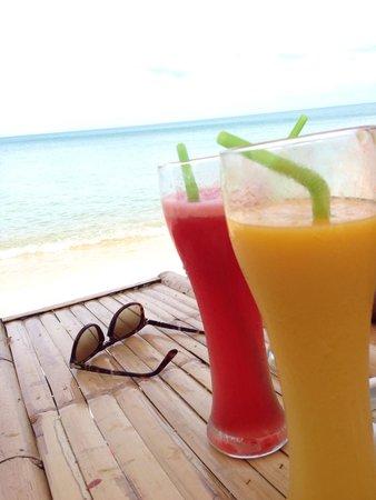 NO Stress: Les jus de fruit frais sont magnifiques, les cocktails idem...
