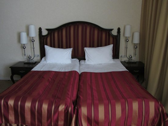 Pushkin Hotel: Twin room (the beds are actually separate)