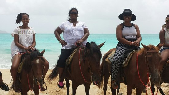 Luxury Bahia Principe Cayo Levantado Don Pablo Collection: Horseback riding on the beach.  Awesome!