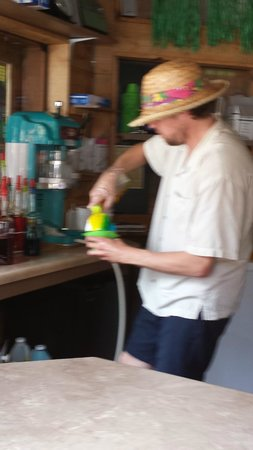 Island Oasis Hawaiian Shave Ice : Blurry pic but it gives you an idea of how they are made.