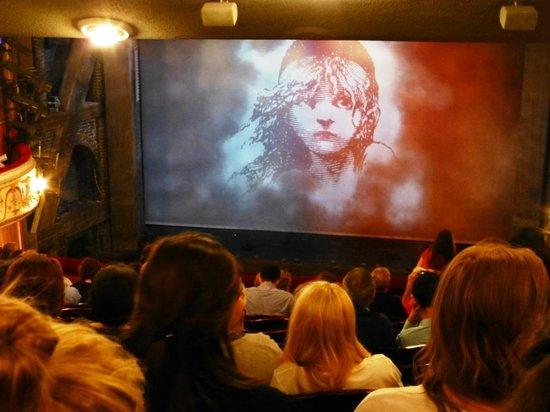 Les Miserables London : Vista del escenario