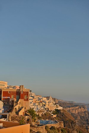Don Angelo: View of Thira at sunset