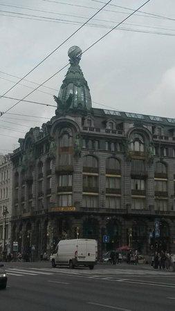 Singer Cafe : Вид на здание со стороны Невского