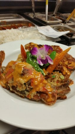Ohana Grill: Soft shell crabs in a citrus panko over dirty rice