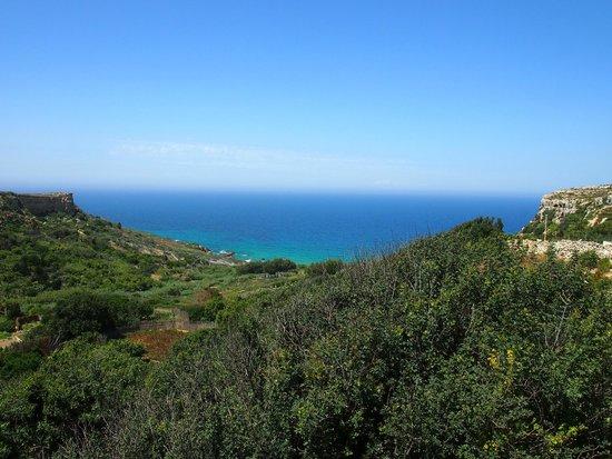 Bellavista Farmhouses Gozo : View to San Blas beach
