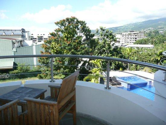 Hotel Tahiti Nui : Vue de la chambre