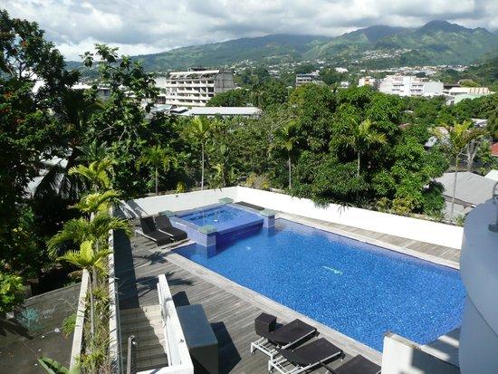 Hotel Tahiti Nui : Vue du balcon