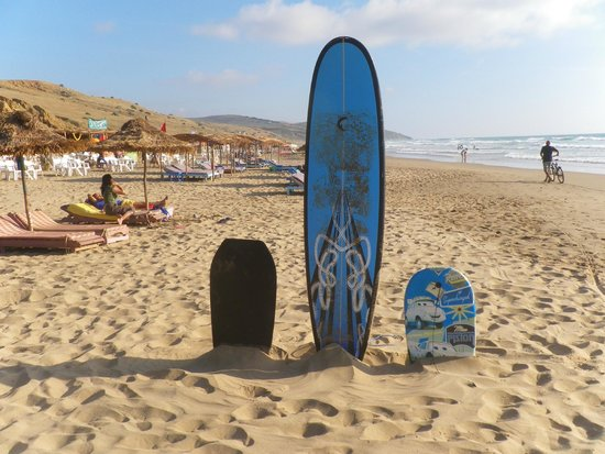 Paradise Beach Kaf Lahmam : The surfboards :)