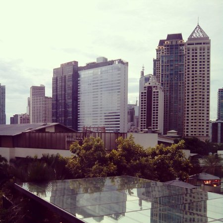 Fairmont Makati: The view from our room during our stay..