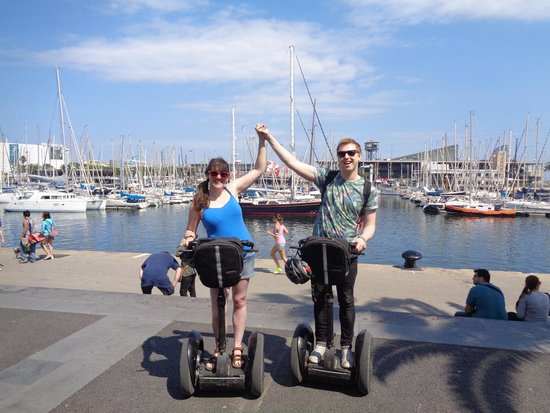 Barcelona Segway Glides: Enjoying our Segway Glides tour!