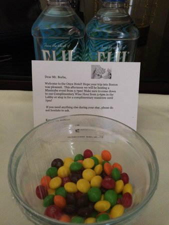 Kimpton Onyx Hotel: What a gentle reception!