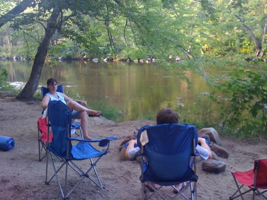 Glen Ellis Family Campground: Sites are right on river - walk right into the water . . .
