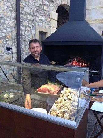 Castrum Relais di Borghetti: Lo chef al lavoro
