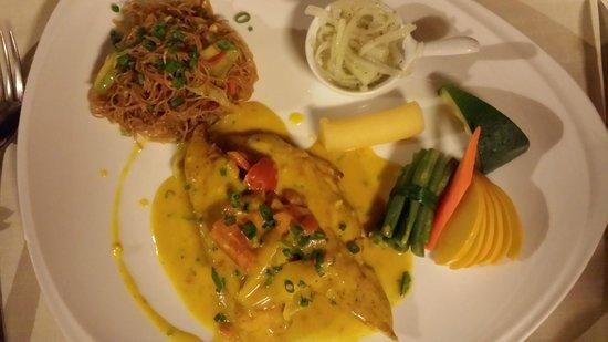 Le Sakoa Hotel: diner mauricien