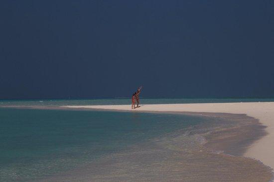 Palm Beach Resort & Spa Maldives: La lingua di sabbia.