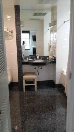 Cincinnatian Hotel : Vanity too small