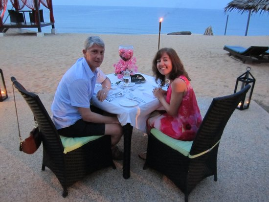 Tanjong Jara Resort: Dinner on the beach
