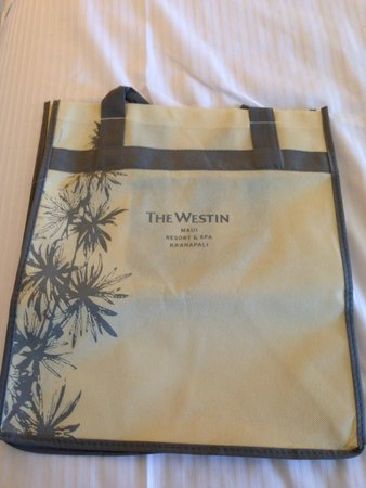 The Westin Maui Resort & Spa: Complimentary hotel tote