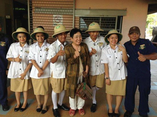 North Borneo Railway: The stewards and stewardesses! Very friendly!