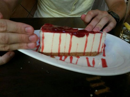 La Mejillonera: Tarta de queso y frutos rojos CASERA