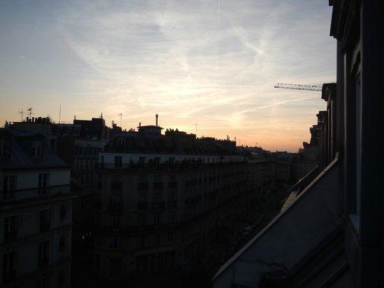 Hotel Residence Les Halles: Por do sol visto do quarto