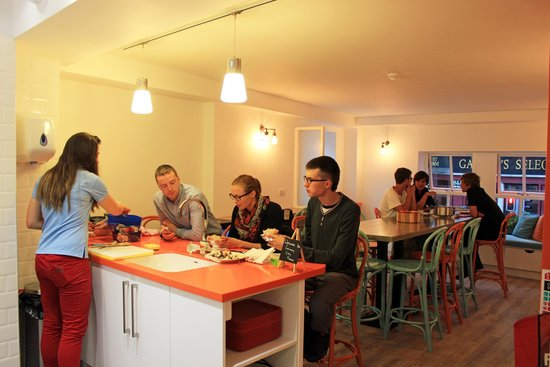 Galway City Hostel Dining Room