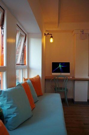 Galway City Hostel: iMac Station