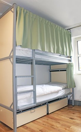 Galway City Hostel: POD - Privacy on Demand beds with curtain, light and USB charging sockets