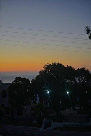 Hotel Kalisperis : Sunset from room 10