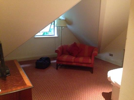 Redworth Hall Hotel: room 409, i think it must be used as a family room, very strange layout