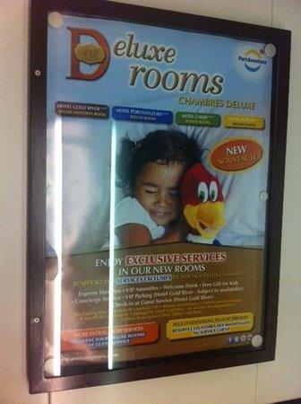 PortAventura Hotel Gold River: Реклама executive room, в которой, в основном, желаемое выдается за действительное