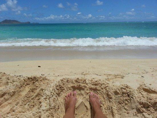Our view! Lanikai Beach!