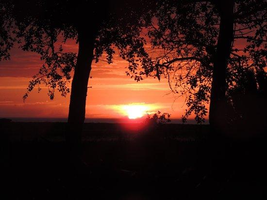 Villa les falaises : coucher de soleil pris sur place