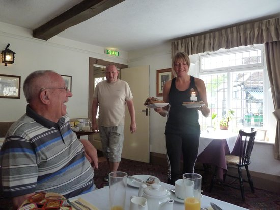 Village House Hotel: Birthday candles in breakfast toast - lovely gesture!