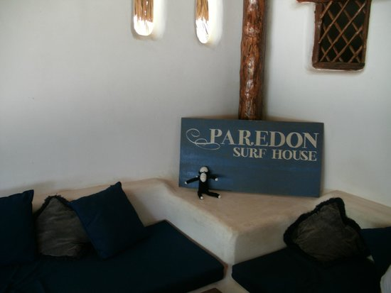 Paredon Surf House: Sock Monkey was there