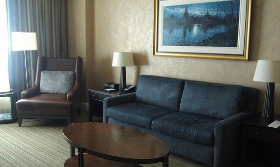 Hyatt Regency Calgary: Living room of suite