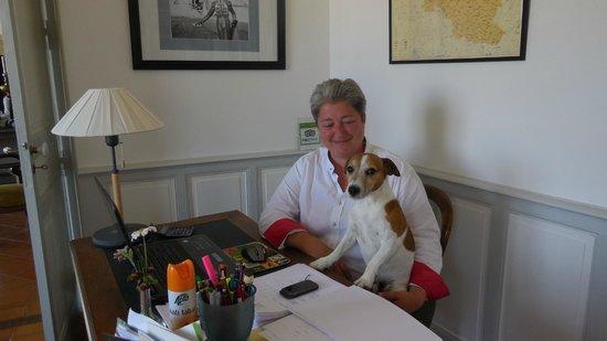 Lacassagne Maison D'hotes: Proprietress Maider Papelorey and Bobby