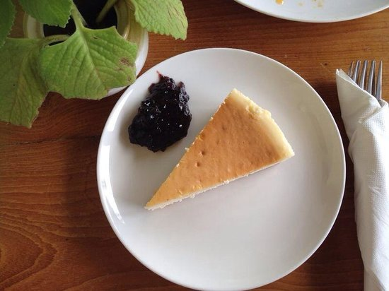 Pepper House Cafe: Blue berry cheese cake