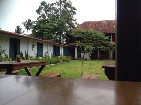 Pepper House Cafe: Lawn view