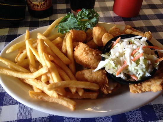 Kaler's: Fried Haddock with Fries and coleslaw from the lunch menu.