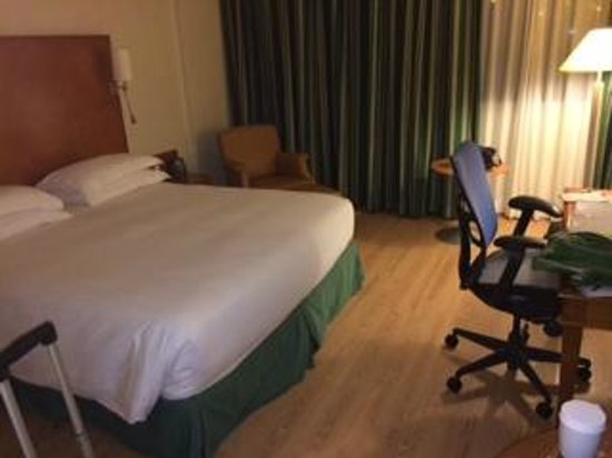 Hilton Rome Airport Hotel: Spacious room with king-sized bed