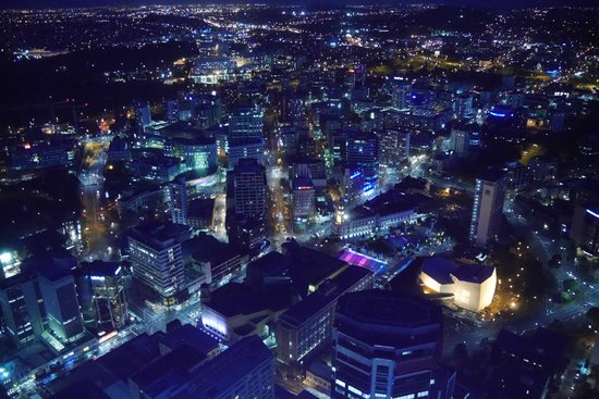 Sky Tower: View by night