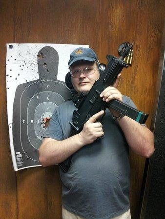 My target practice results at Strip Gun Club