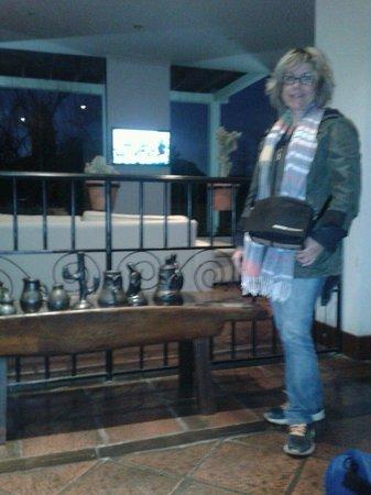 Hotel Los Sauces : Recepcion hotel