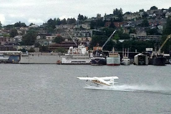 Museum of History & Industry: Kenmore Air seaplane taking off