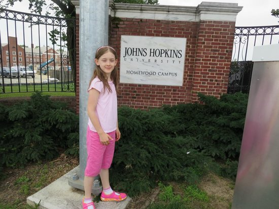 Doubletree Inn at The Colonnade: Touring Johns Hopkins University, we saw lacrosse practice