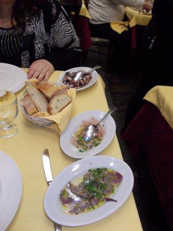 Il Moro di Trezza: gli antipasti marinati